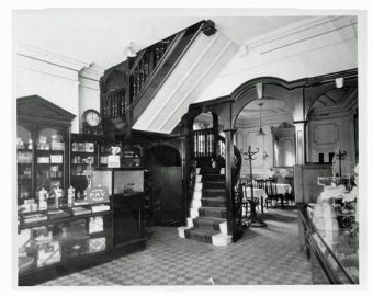 Interior of Langford's restaurant